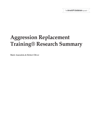 thumbnail of Aggression Replacement Training Research Summary 3-9-16